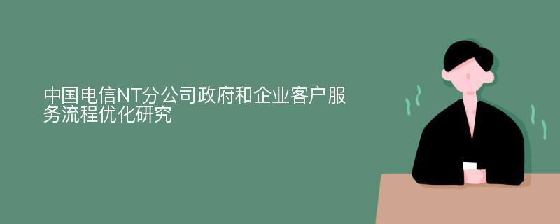 中国电信NT分公司政府和企业客户服务流程优化研究